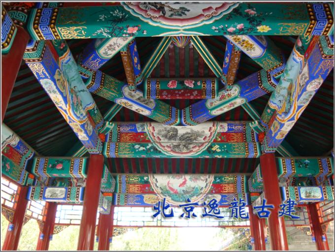 Polygonal pavilion paint painted