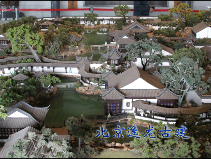 Chinese architecture model