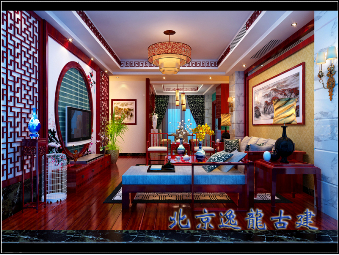 Chinese decoration living room