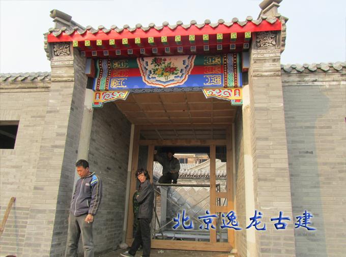 Traditional courtyard door