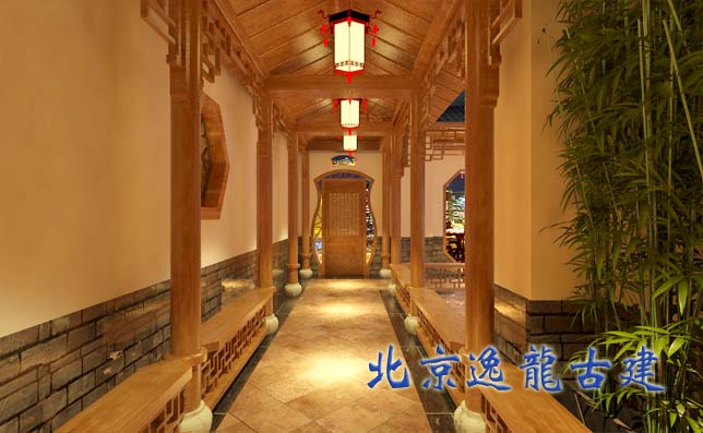 别墅室内中式装修-北京逸龙园林古建筑装饰工程有限