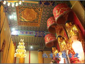 The temple interior decoration
