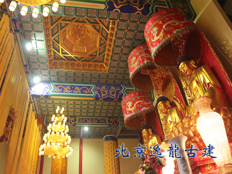 The temple interior decoration